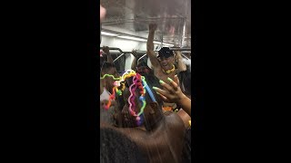 Drinking and Partying on the subway during Rio Carnaval
