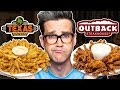 Texas Roadhouse vs. Outback Steakhouse Taste Test | FOOD FEUD...