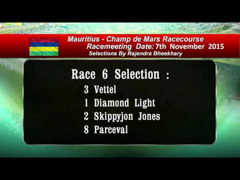 Mauritian Race Selection For Race  Meeting  07112015