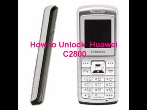 Huawei C2800 Unlock Code - Free Instructions