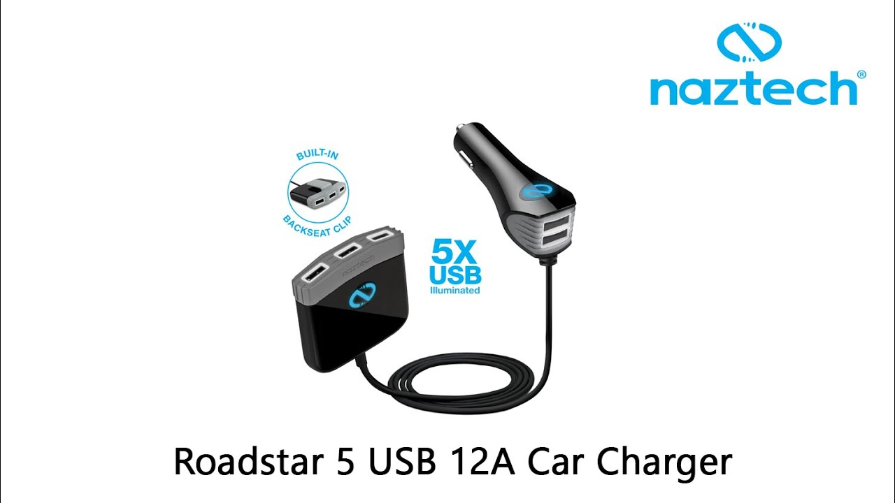 Naztech Roadstar 5 Port USB Car Charger