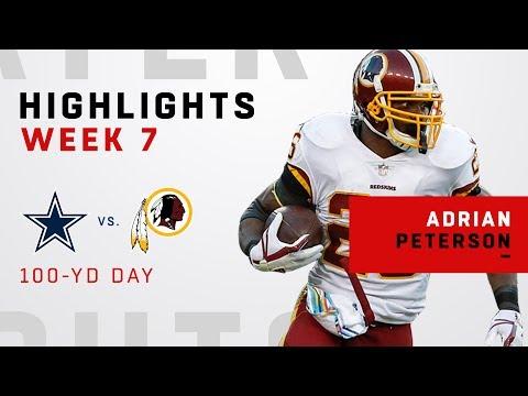Adrian Peterson Highlights vs. Cowboys