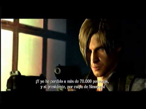 chris redfield  vs leon s kennedy  -resident evil 6 - escena completa ps3