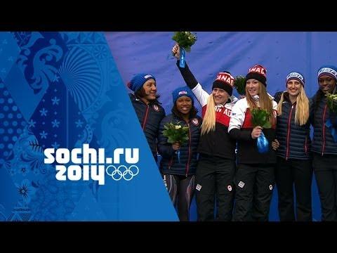 Bobsleigh - Women's Bobsleigh Heats 3&4 - Canada Win Gold | Sochi 2014 Winter Olympics