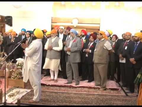 PM Modi visits to Bhai Ganga Singh Sabha Gurudwara in Tehran