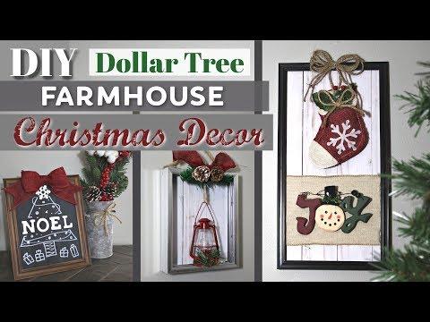 DIY Christmas Decor From $1 Photo Frames | Dollar Tree Farmhouse Christmas DIY Decor KraftsbyKatelyn - YouTube