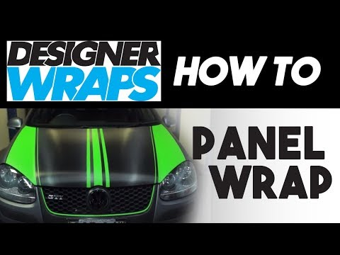 Applying 3M Designer Wrap - Full Panel