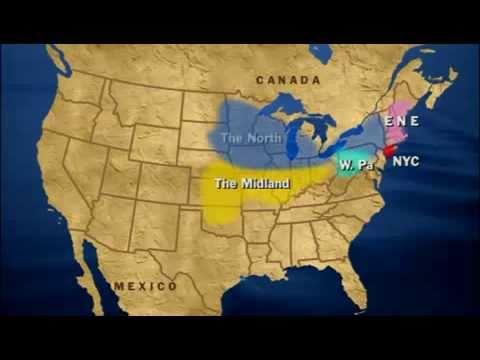 Dialekty Amerykańskie - Nauka Jezyka Angielskiego - Mapa - MalyLink.com