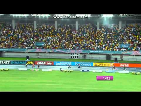 4x400 Men Final World Relays 2014 Bahamas