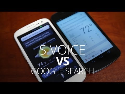 Video: Google Search vs S Voice - Voice Assistant Battle!