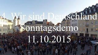 Sonntagsdemo/ Kundgebung in Plauen vom 11.10.2015 | 4. Sonntagsdemo