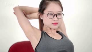 5 động tác yoga trên ghế - Hết mỏi lưng, dẻo dai, khỏe mạnh cho dân văn phòng| Emdep TV