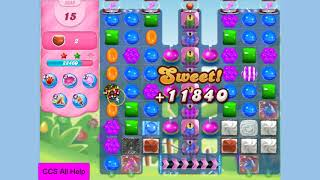 Candy Crush Saga Level 3323 NO BOOSTERS Cookie