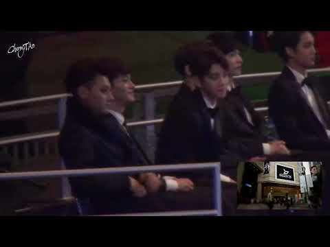 141203 EXO reaction to BTS vs Block B MAMA 2014