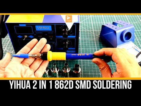 YIHUA 2 in 1 862D+ SMD Soldering Iron Rework Station