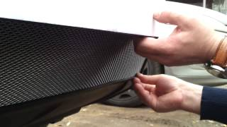Видео: Защитная сетка радиатора Nissan X Trail 2011 chrome