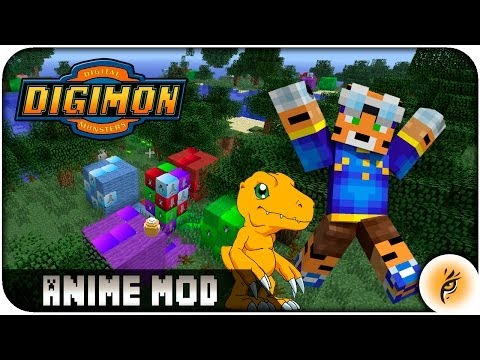 DIGIMON MOD ANIME   MINECRAFT REVIEW   DIGIMOBS + DESCARGA / DOWNLOAD