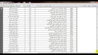 اسماء الوجبة الاولى للمقبوليين الصف السادس الوقف الشيعي السنة 2013