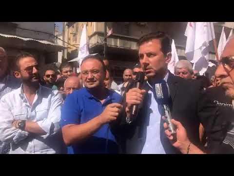 اعتصام عمال شركة كهرباء زحلة