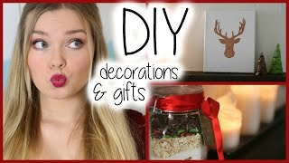 DIY ♥ Christmas Room Decorations + Gifts