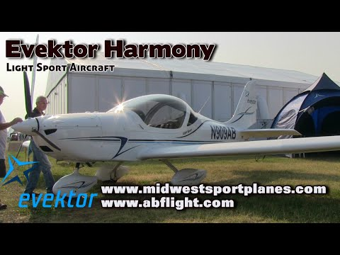 Evektor Aircraft. Evektor Harmony light sport aircraft pilot review.