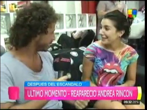 A Andrea Rincón le preguntaron si era la primera vez que estaba con una mujer, ¿qué respondió?