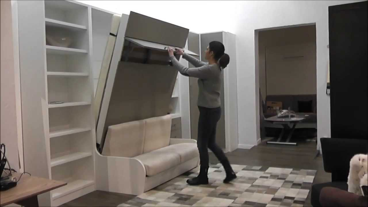D monstration armoire lit escamotable campus youtube - Lit escamotable mural ikea ...