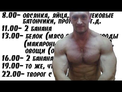 Дневной рацион для набора мышечной массы