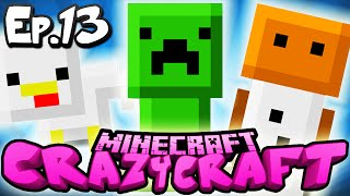 "Minecraft  CRAZY CRAFT 3.0 | Ep 13 : ""INVENTORY PET FRENZY!"" (Crazy Craft Modded Survival)"
