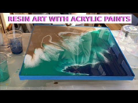 Resin Art With Acrylic Paints - Beach Effect (First Layer) by Arijana Lukic #11
