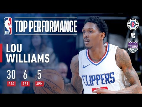 Lou Williams Shows Out With 30 Pts, Adds 6 Dimes | January 11, 2018