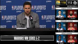 Klay Thompson postgame reaction | Warriors vs Rockets Game 6 | 2019 NBA Playoffs