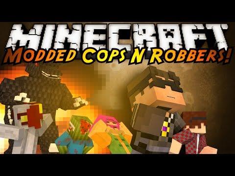 Minecraft Mini Game : MODDED COPS N ROBBERS GODZILLA