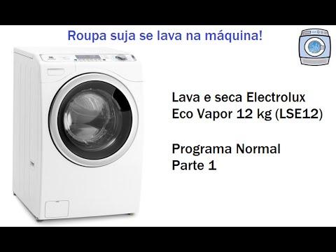 Lava e seca Electrolux Eco Vapor 12kg (LSE12) - Programa Normal