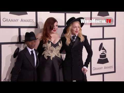 Madonna is Michael Jackson arriving at 56th Annual GRAMMY Awards Redcarpet