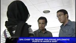 DFA to revamp PH diplomatic posts in Middle East
