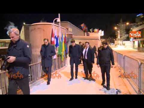 RENZI A DAVOS - L'ARRIVO AL WORLD ECONOMIC FORUM 2015 - IMMAGINI