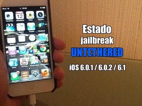 Estado jailbreak UNTETHERED iOS 6.0.1 / 6.0.2 / 6.1 iPhone 5 & Más   Preguntas & Respuestas