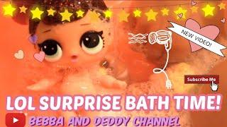 LOL SURPRISE DOLLS BATH TIME!