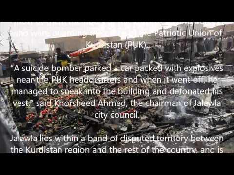 Suicide bombing on Kurdish party HQ in Iraq kills 18