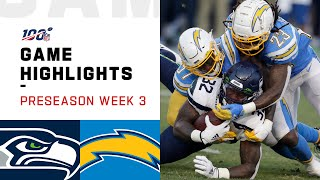 Seahawks vs. Chargers Preseason Week 3 Highlights  NFL 2019