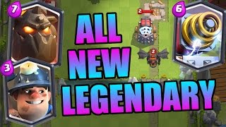 Clash Royale | ALL 3 NEW LEGENDARY CARDS! INSANE GAME PLAY! | MAY 2016 UPDATE!