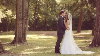 Emotional St. Louis wedding film at Grant's Farm mansion