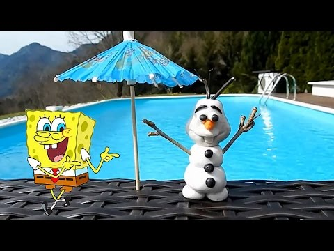 Toys Creations : How To Make Olaf From Frozen Movie & Spongebob Squarepants video