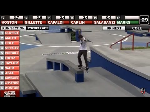 Street League 2012: Heats On Demand - Kansas City Qualifying Heat 3 Run Section