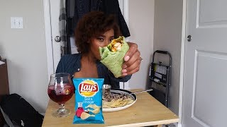 Buffalo Chicken Wrap, Lays Chips,  Rice & Beans ꟾ MUKBANG ⚠️: Smacking Noises ꟾ ELITE THE PHOENIX