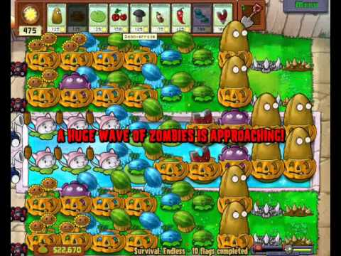 How to beat survival endless on plants vs zombies