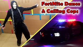 Game Master Fortnite Dances & Cheerleading! Then We Call the Cops!