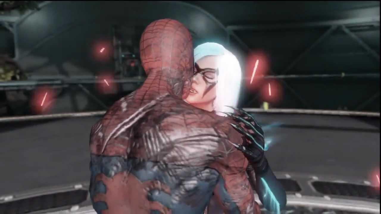 Black Cat Kisses Spider Man