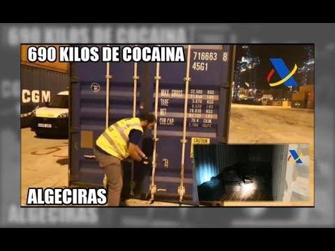 690 kilos de cocaína en Algeciras - Aduanas SVA